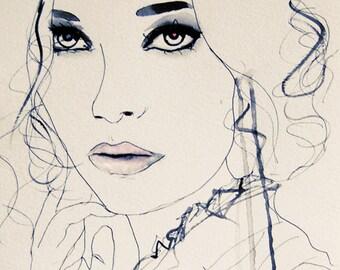 Twilight Blue - Fashion Illustration Art Print // Limited Edition