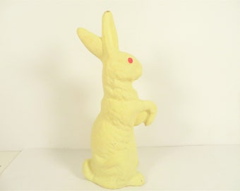 Mid Century Composite Paper Mache Easter Rabbit Candy Container