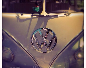 4 x 4 photo card-Shiny Gray VW bus