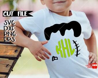 Frankenstein Svg Cut File - Boy Halloween Svg Cut File - Frankenstein SVG Cut File - Halloween Monogram Svg - Halloween Cut File