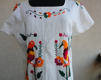 Colorful Embroidered Dress