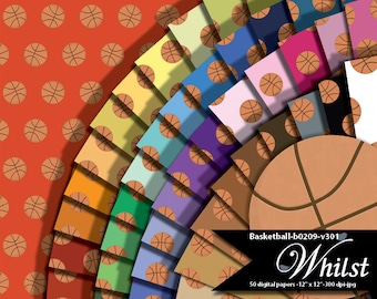 Basketball digital paper sport clipart basketball clip art scrapbook party : b0209 v301