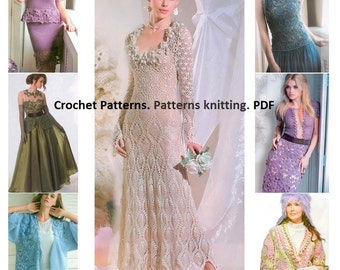 Crochet Patterns. Patterns knitting. E-book. Instant Download PDF. Journal Mod #594