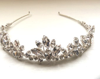 Bridal hair accessories, wedding hairband, hairpiece, vintage style hairband, headband, crystal