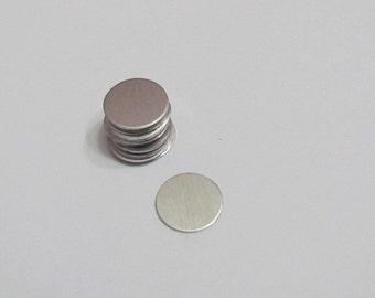 "1/2""- Nickel SIlver Blanks -hand stamping blanks - metal blanks - hand stamping blanks - jewelry supplies"