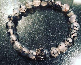 Dragon vein agate bracelet