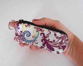 Coin Purse Mini Key Ring Zipper Pouch ECO Friendly Padded Lip Balm Case Earbud Pouch Sky Bazaar