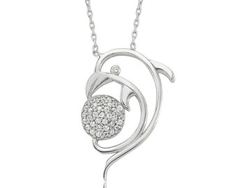 Silver Dolphins Necklace - IJ1-1345
