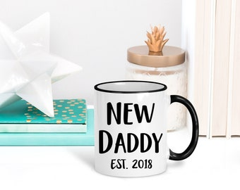 New Dad Coffee Mug | New Dad Gift | Baby Shower Gifts | New Dad Est 2017 | Pregnancy Announcement to Husband | Pregnancy Reveal | Dad Cup