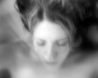 surreal portrait, dreamy portrait, woman photo, conceptual, ethereal home wall decor fine art, girl dark art haunting emotional photography