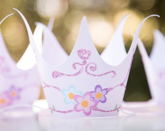 Princess Party Crowns. Direct Download. Printable for your princess party. Handmade.