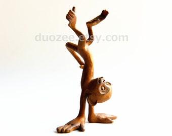 Handstand Monkey Figurine, Monkey Figurines, Monkey Statue, Monkey Figures, Monkey Figure, Monkey Lover Gift