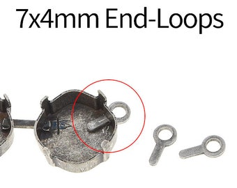 20_PCS 7x4mm End-loop for empty cup chain by meter