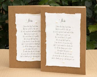 Wedding Poem, Bride to her New Mum in Law, , Mum in Law Poem Card, Mother of the Groom Card, Wedding Card, Mum in Law Gift, Wedding Keepsake