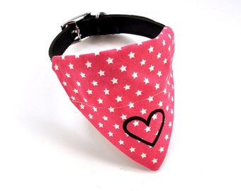 Pink Heart Star Neckerchief