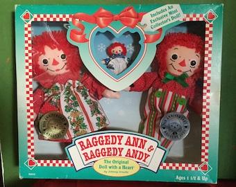 Raggedy Ann & Andy Anniversary Edition, Vintage, Holiday, NRFB