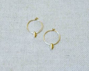 Mini hoop BARBARELLA, ring and gold plated spike