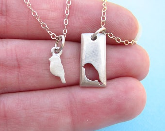 Mommy and Me - Mother Gift - Mother's Day  - Mom Gift - Mother Daughter Necklace Set - Jewelry  -  Mom from Daughter Jewelry - Ready to Ship