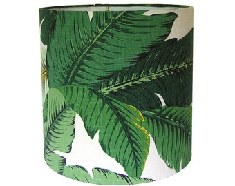 Custom Lamp Shade - Tropical Lamp Shades - Green Lampshade - Swaying Palms by Tommy Bahama in Aloe - Island Beach Decor - Made to Order