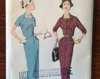 FB AUCTION - 1950s Vintage Advance Dress and Jacket Pattern 8348 Size 18 Bust 38 - NC - 1950s Advance / 50s Advance / 19 50s Sewing Pattern