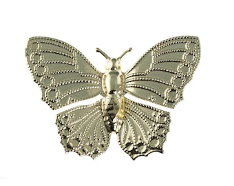 Gold Plated Butterfly Pin