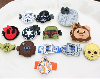 The Force is Following Me Clippie, Choose Your Favorite Star Wars Inspired Hair Clip