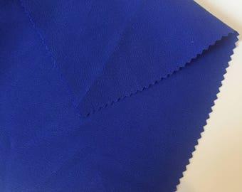 100% washed silk blue