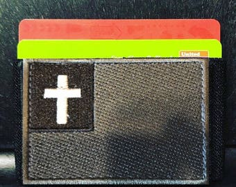 Wallet Christian Flag Slim Morale Patch Wallet