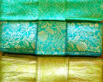 Silk Sari borders, Sari Fabric SR547