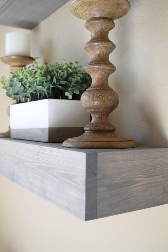 Floating Shelf | Rustic Floating Shelf | Ledge Shelf | Wooden Floating Shelf | Floating Shelves | Farmhouse Decor | Chunky Shelves | Gray