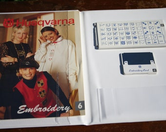Husqvarna Viking Embroidery Card Cassette Booklet 6 for Viking 1+ Sewing Machine