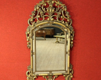 Italian lacquered, gilded and painted mirror from 20th century