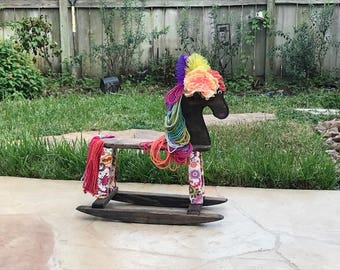 Rocking Horse - Rocking Horse Wooden Toy - Ride on Toy - Heirloom Furniture - Child's Rocking Toy - Horse Toy - Animal Toy - Miss Jessica