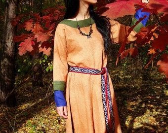 Early Medieval Dress made of wool,  Viking Dress, T-tunic dress based on Hedeby sources, Kirtle