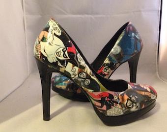 Harley Quinn Custom Comic Heels size 5