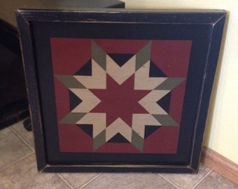GIFT CERTIFICATE for a PriMiTiVe Hand-Painted Barn Quilt - 2' with Thick Frame