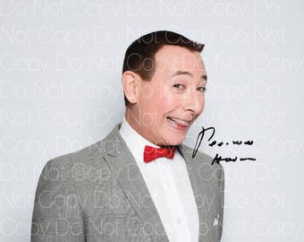 PeeWee Herman signed Pee Wee's Playhouse 8X10 photo picture autograph poster RP