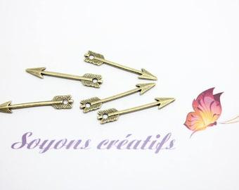 50 Charm 29x5mm SC31130 Bronze arrowhead charm pendant-