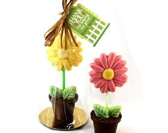 Thank you For Helping Me Grow Chocolate Flowerpot - Teacher Gift - Thank you - Personalised Teacher Gift - Chocolate Flower - Teacher Gift