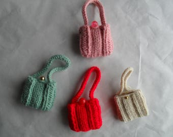 Hand Knit for Barbie Doll Purse for 12 inch fashion doll you pick color
