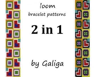 Beading pattern Heart bracelet pattern for Beading instructions Geometric bracelet Bead loom pattern Beading pattern Bracelet tutorial