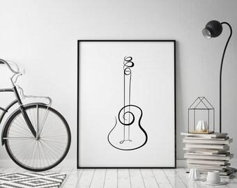 Single Line Art Print : Lips print single line drawing fashion wall decor abstract