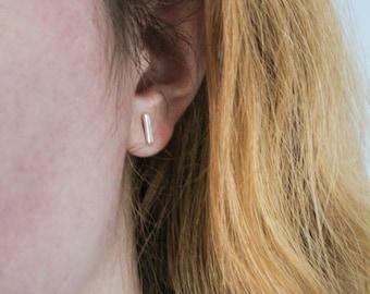Sterling Silver Bar Studs, Silver Bar Earrings, Silver Stud Earrings, Bar Studs, Silver Earrings, Minimalist Earrings, Silver Earrings