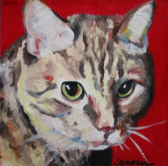 "Oil Painting of Your Pet 8""x10"" Pet Art"