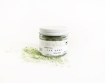 Matcha Facial Mask. Green Tea Mask. 100% Natural. Vegan. Green Matcha + Honey + Marshmallow Roots. Detoxifying + Sooting Facial Mask