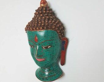 Buddha Mask, handmade buddha wall hanging, wall hanging, buddha wall decor
