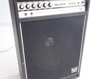 I Vintage Oliver B120 Bass Tube Amp 1970's