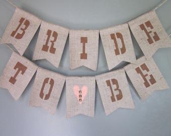 Western Bridal Shower Banner - Country Western Bridal Shower Bunting - Rustic Burlap Bridal Shower Bunting - Southern Cowgirl Bridal Shower