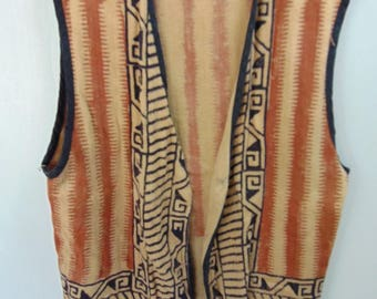 1970's African?? Vintage Vest Chest size 46 inches
