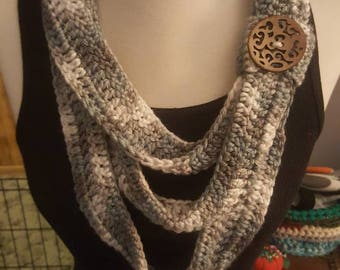 Winter necklace scarf
